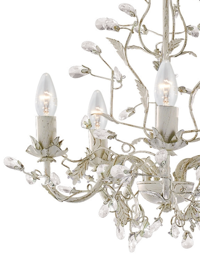 Latest Almandite Cream / Gold 5 Light Chandelier With Crystal 2495 5Cr Intended For Cream Gold Chandelier (View 8 of 10)