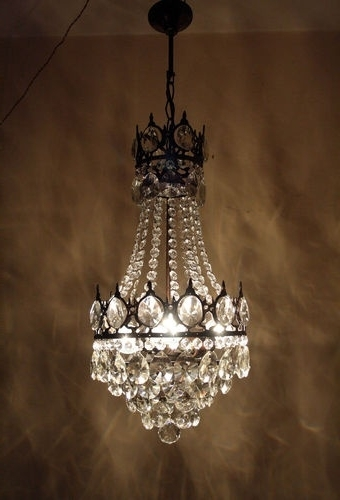 Latest Antique Style Chandeliers With Regard To Antique Basket Chandelier Vintage Crystal Style French – Buzzmark (View 7 of 10)