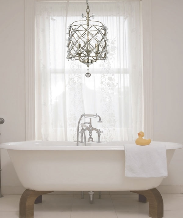 Latest Bathroom Chandelier Lighting Throughout Make Your Bathroom Amazing Using Bathroom Chandeliers – Pickndecor (View 5 of 10)