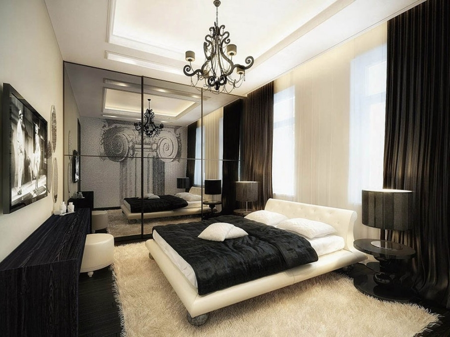Latest Black Chandelier Bedroom Regarding Black Chandelier For Bedroom Brilliant Amusing Decor Exciting  (View 4 of 10)
