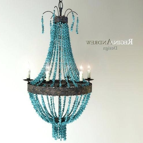 Latest Chandelier Turquoise Medium Size Of Blue Beaded Chandelier Turquoise With Regard To Large Turquoise Chandeliers (View 7 of 10)