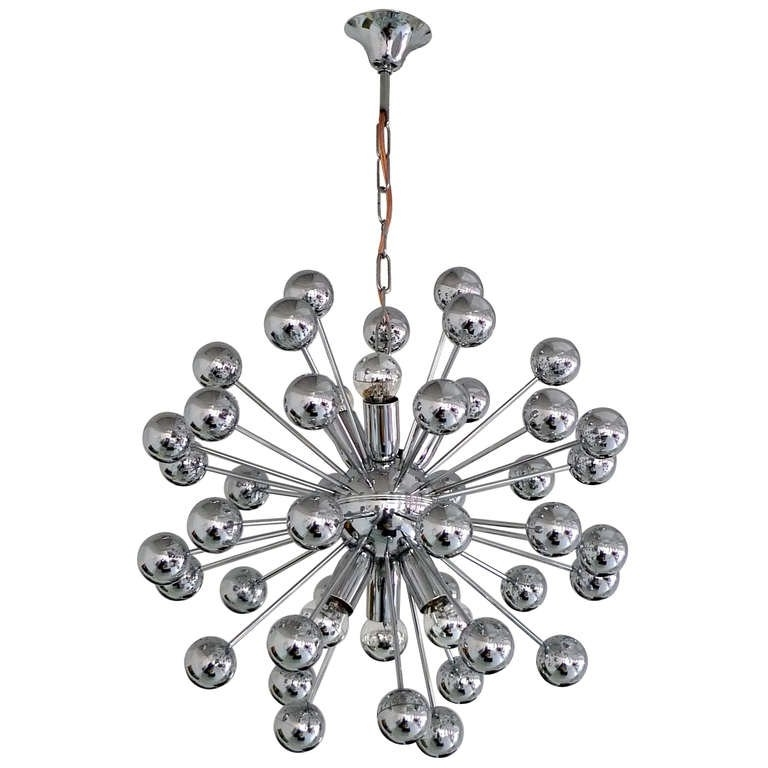 Latest Chrome Sputnik Chandeliers Intended For 1970's Chrome Sputnik Chandelier For Sale At 1Stdibs (View 7 of 10)