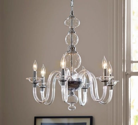 Latest Clear Glass Chandeliers Inside Home Design : Amusing Clear Glass Chandelier Zspmed Of Shades Great (View 8 of 10)