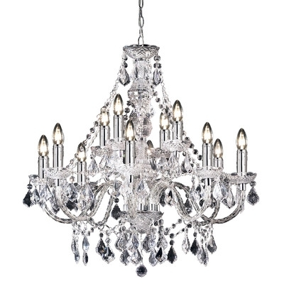 Latest Endon Lighting Chandeliers Inside Endon Lighting 12 Light Crystal Chandelier (View 7 of 10)
