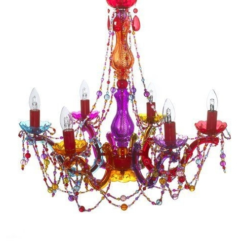 Latest Gypsy Chandelier Pendant Ceiling Light – Multi Coloured Large Throughout Multi Colored Gypsy Chandeliers (View 3 of 10)