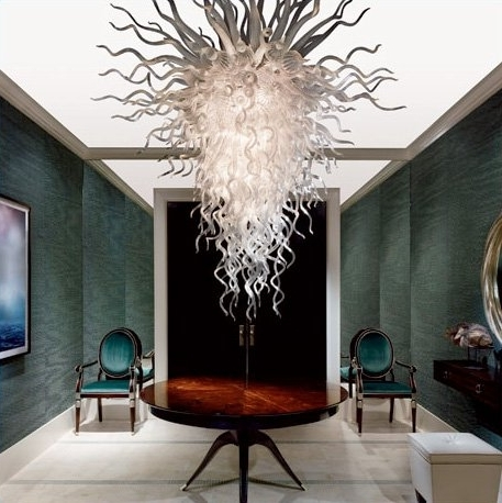 Latest Modern Large Chandelier With Shimmering Glass And Crystal Chandeliers For Your Home (View 6 of 10)