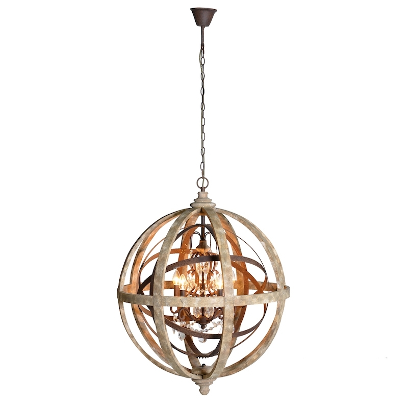 Latest Orlando Large Globe Chandelier Pertaining To Chandelier Globe (View 3 of 10)