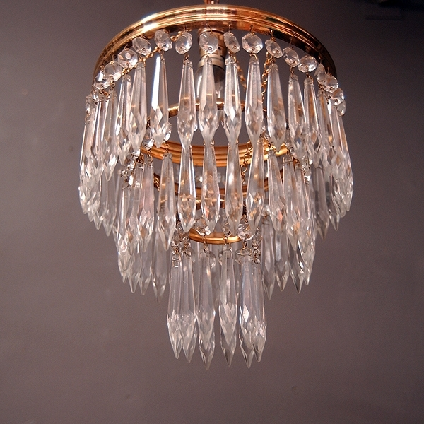 Latest Poppy Greens Home – 3 Tiered Waterfall Crystal Chandelier Regarding Crystal Waterfall Chandelier (View 8 of 10)