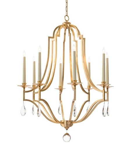 Latest Signature 8 Light 38 Inch Gold Leaf Chandelier Ceiling Light Inside Gold Leaf Chandelier (View 6 of 10)