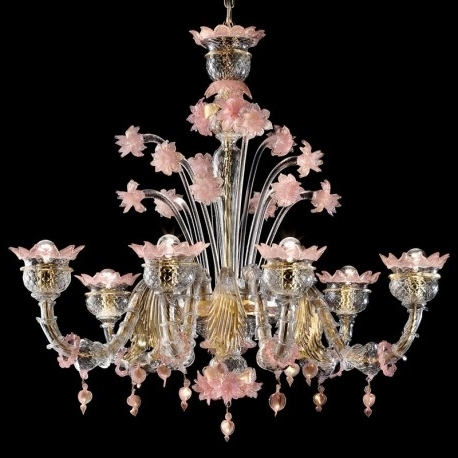 "Latest Sissi"" Murano Glass Chandelier – Murano Glass Chandeliers With Regard To Murano Chandelier (View 3 of 10)"