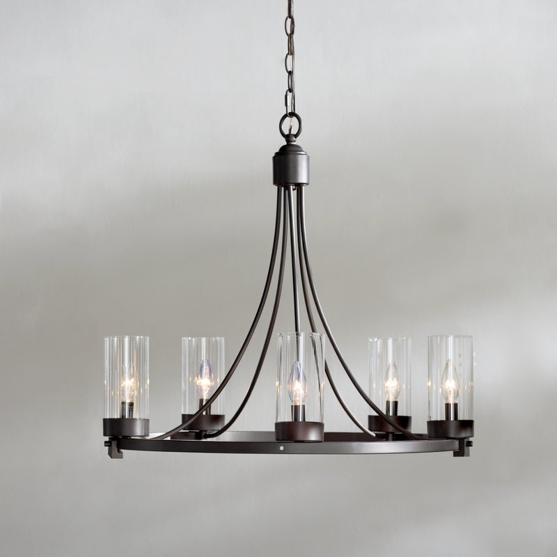 Levan 5 Light Candle Style Chandelier & Reviews (View 6 of 10)