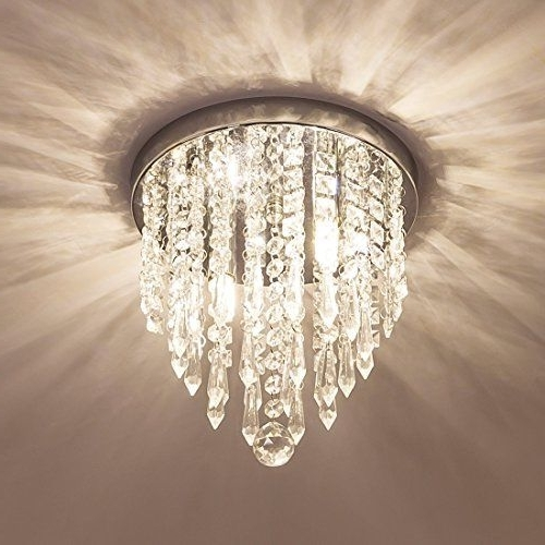 Lifeholder Mini Chandelier Crystal Lighting 2 Lights Flush Mount Pertaining To Current Wall Mounted Mini Chandeliers (View 1 of 10)