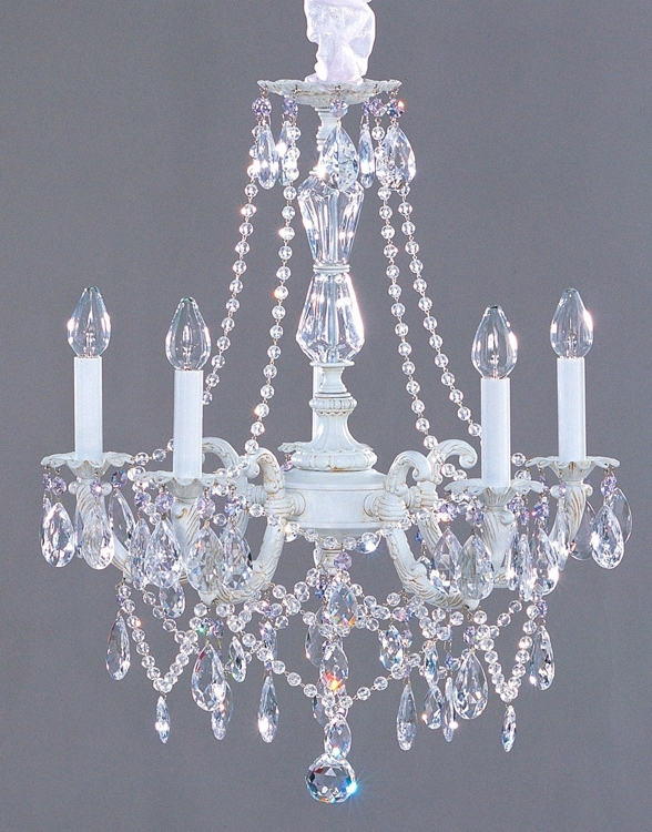 Lighting – Chandeliers – Shabby Chic Style Crystal Chandelier Throughout Most Current Country Chic Chandelier (View 2 of 10)