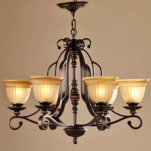 Lnc 6 Light Traditional Chandeliers, Oil Rubbed Bronze Glass Shade Inside Well Known Traditional Chandelier (View 6 of 10)