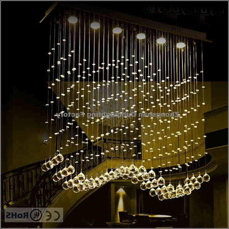 Long Chandelier Lighting Throughout Most Popular Modern Style Philippines Wire Long Crystal Chandelier Lamp – Buy (View 5 of 10)