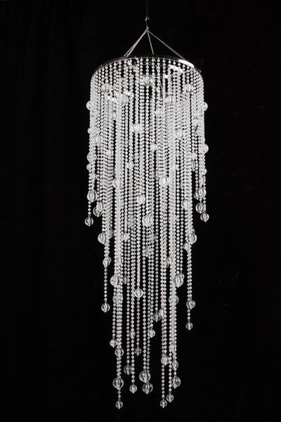 "Long Chandelier With Regard To Fashionable Vanessa – Crystal Iridescent – 39"" Long (View 7 of 10)"