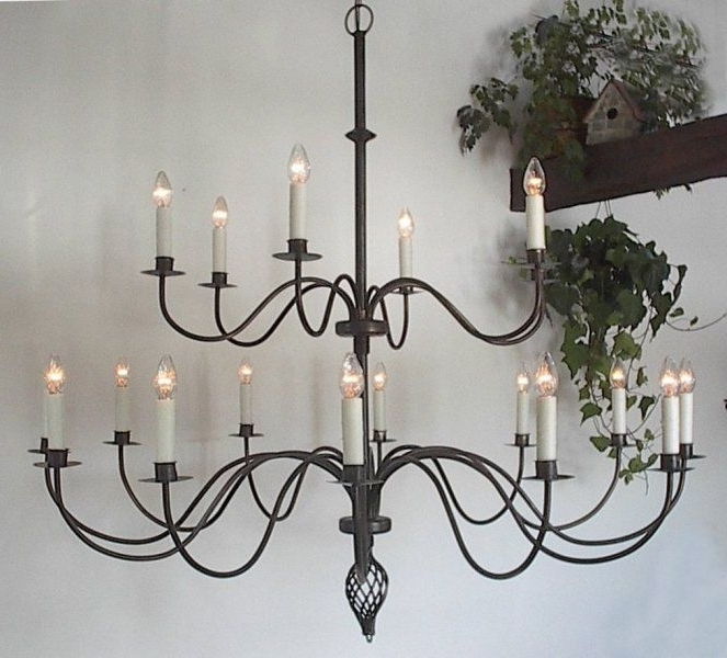 Loooove Wrought Iron Chandeliers (View 6 of 10)