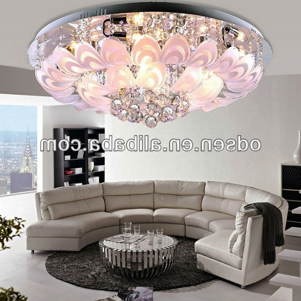 Low Ceiling Flower Small Red Light Crystal Chandelier – Buy Small Pertaining To Well Liked Small Chandeliers For Low Ceilings (View 3 of 10)