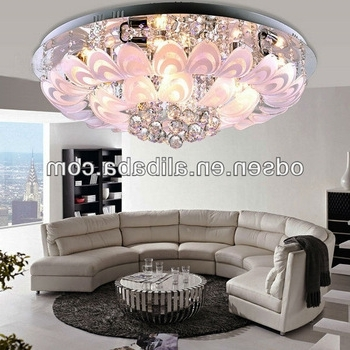Low Ceiling Flower Small Red Light Crystal Chandelier – Buy Small Throughout Preferred Low Ceiling Chandeliers (View 7 of 10)