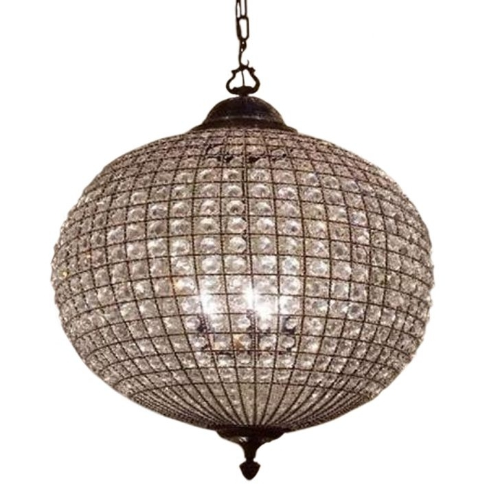 Lucienne 3 Light Crystal Pendant Chandelier In French Gold Beautiful Throughout 2017 Crystal Globe Chandelier (View 6 of 10)