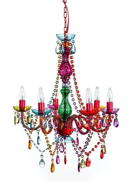 Mallori Multi Color Acrylic Crystal Boho Gypsy Chandelier In 3 Sizes With Preferred Gypsy Chandeliers (View 7 of 10)