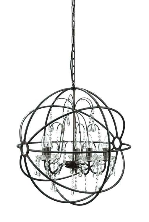 Metal Ball Candle Chandeliers Within Fashionable Metal Ball Chandelier Big Round Iron Steel Ball Chandelier Classic (View 7 of 10)