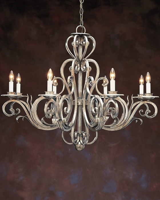 Metal Chandeliers For Most Recently Released Wrought Iiron Chandelier And Hand Wrought Iron Chandelier (View 5 of 10)
