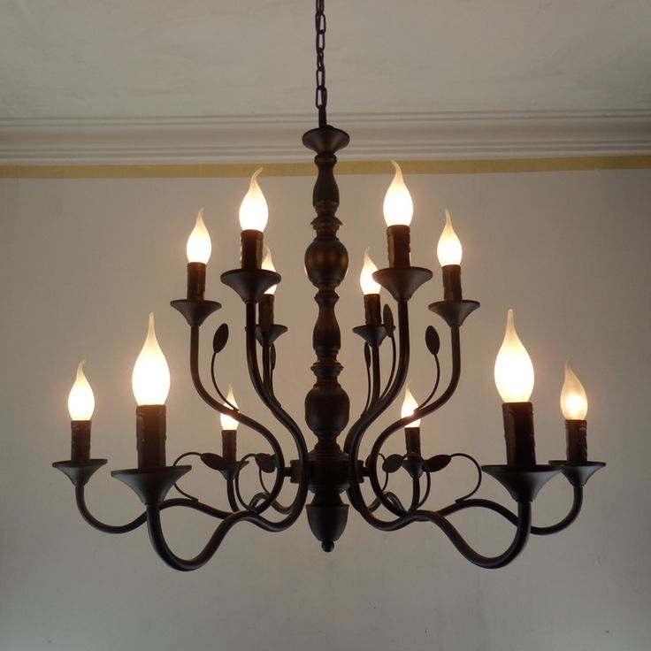 Metal Chandeliers Regarding Newest Large Iron Chandelier Metal – Closdurocnoir (View 6 of 10)