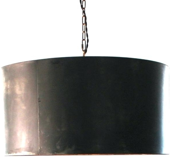Metal Drum Chandelier Hand Crafted Drum Pendant Light Industrial Within Preferred Metal Drum Chandeliers (View 3 of 10)