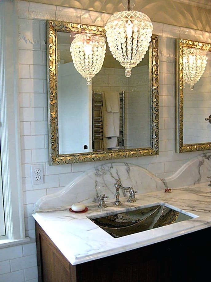 Mini Bathroom Chandeliers Regarding Best And Newest Elegant Small Bathroom Chandelier Of Mini Chandeliers For (View 8 of 10)