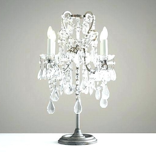 Mini Chandelier Table Lamps Inside Fashionable Chandelier Table Lamps Small Chandelier Table Lamp Chandelier Table (View 5 of 10)