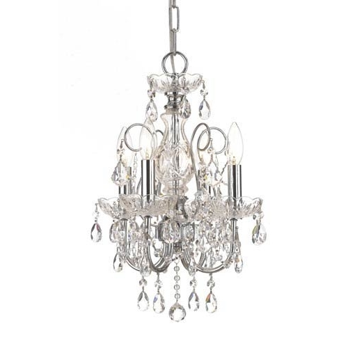 Mini Crystal Chandeliers Regarding Popular Chrome Polished Mini Chandeliers Bellacor Elegant Crystal Chandelier (View 5 of 10)