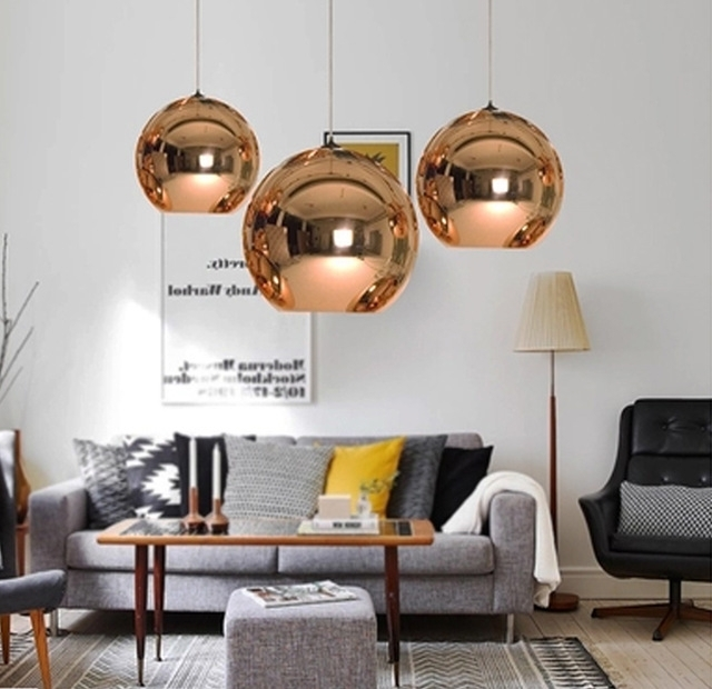Mirror Chandelier In 2018 Wonderland Modern Copper Sliver Shade Mirror Chandelier Light E (View 5 of 10)