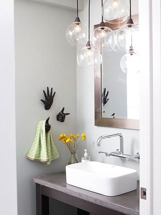 Modern Bathroom Chandelier Lighting Pertaining To Widely Used 25 Creative Modern Bathroom Lights Ideas You'll Love – Digsdigs (View 4 of 10)