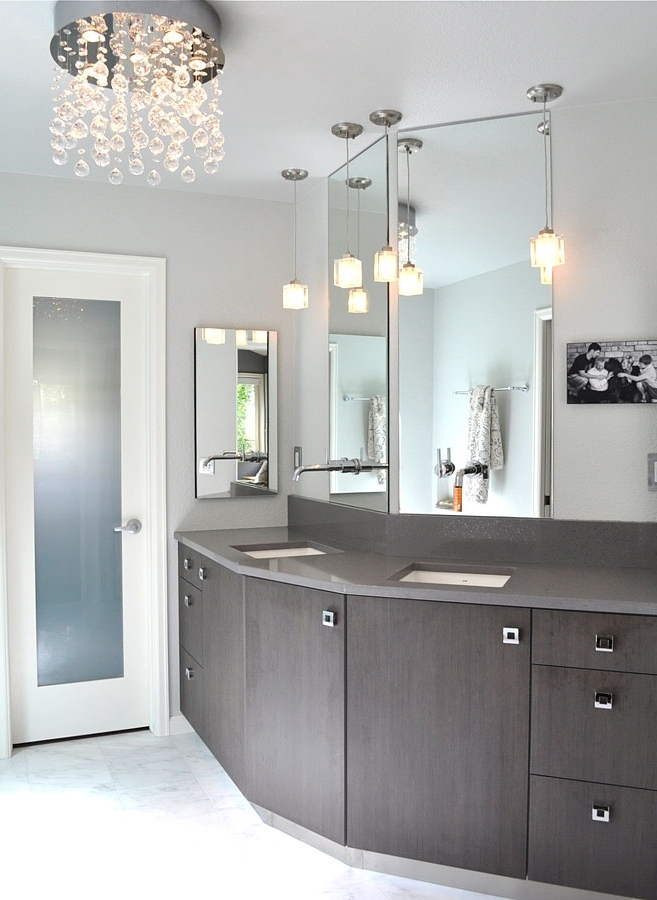 Modern Bathroom Chandeliers Chandelier Interesting Mini Chandelier For Latest Modern Bathroom Chandeliers (View 5 of 10)
