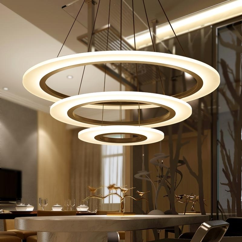 Modern Chandelier Lighting With Regard To Famous Luxury Modern Chandelier Led Circle Chandelier Lights Round Acrylic (View 6 of 10)
