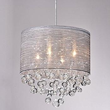 Modern Chandeliers In Most Popular Claxy Ecopower Lighting Metal & Crystal Pendant Lighting Modern (View 8 of 10)