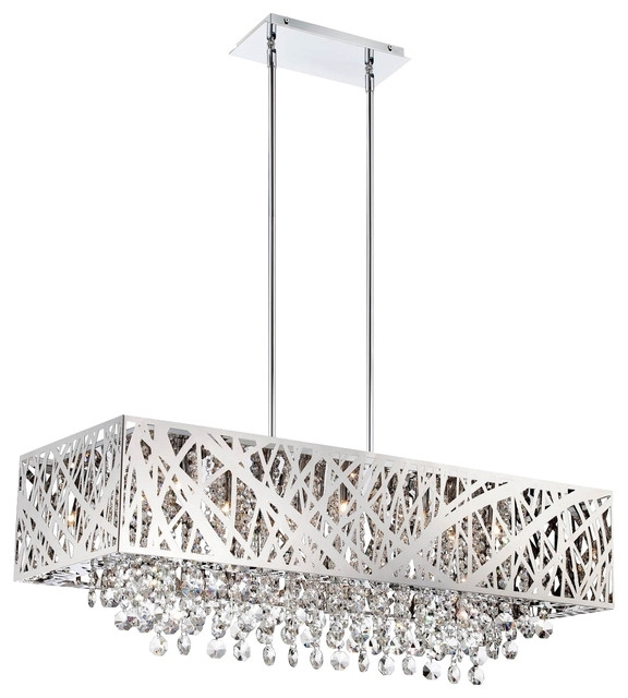 Modern Chrome Chandeliers In Newest Modern Chrome Chandeliers – Chandelier Designs (View 3 of 10)