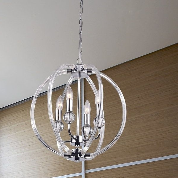 Modern Chrome Chandeliers Regarding Newest Bring A Touch Of Elegance To Your Home With This Beautiful Orb (View 6 of 10)