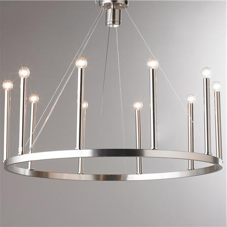 Modern Chrome Chandeliers Throughout Recent Euro Modern Candelabra Chandelier – 11 Light (View 7 of 10)