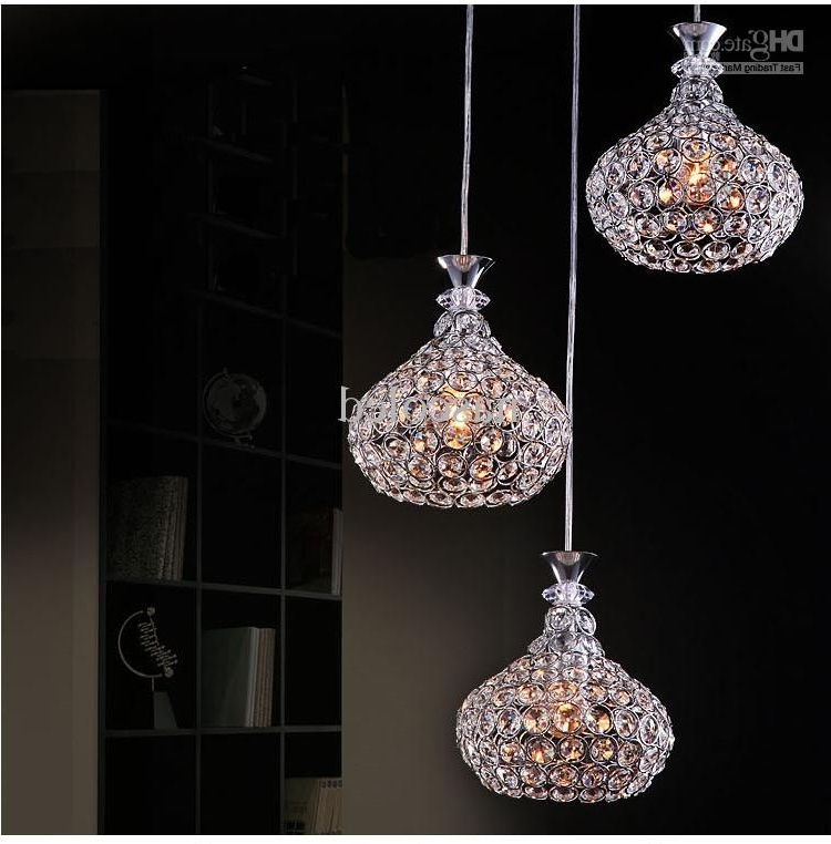 Modern Crystal Chandelier Lighting Chrome Fixture Pendant Lamp With Regard To Trendy Modern Pendant Chandelier Lighting (View 4 of 10)