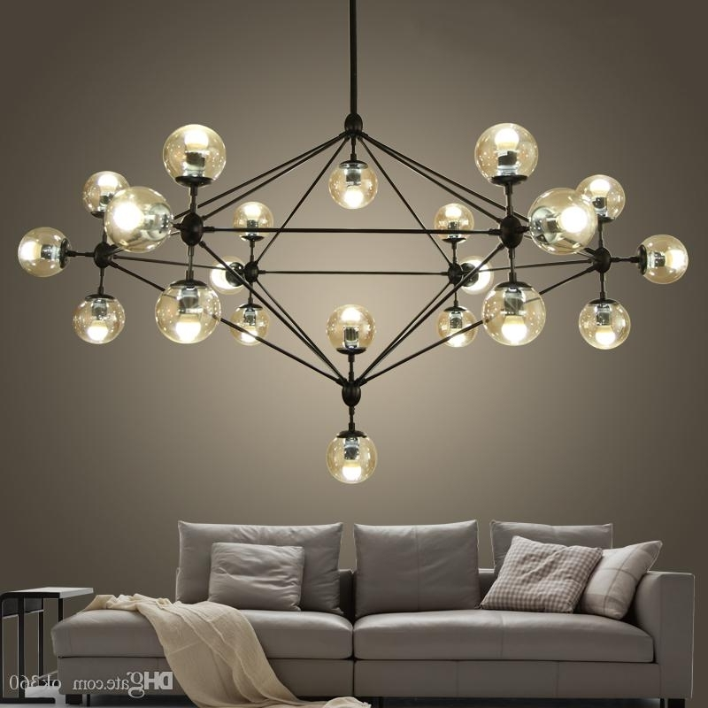 Modern Glass Chandeliers For Current Modern Glass Chandeliers Designer Jason Miller Modo Chandelier (View 5 of 10)