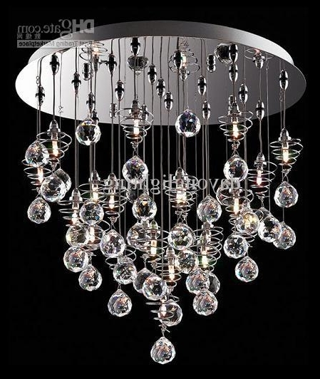Modern Glass Chandeliers Throughout 2018 Crystal Chandelier Modern Lamp /glass Ball Lamp Hanging Lampdy (View 6 of 10)