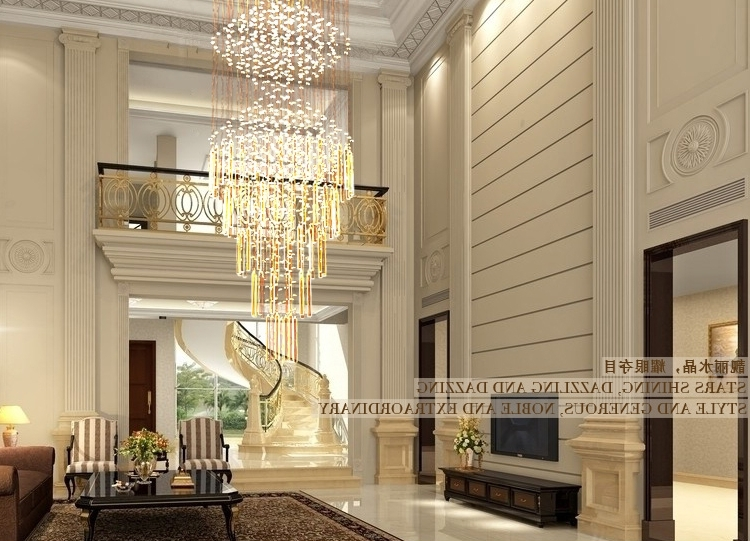Modern Large Chandelier Throughout Famous Modern Big Crystal Chandelier For Luxury Life (View 2 of 10)