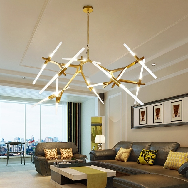 Modern Led Chandelier Within Favorite Modern Led Chandelier For Living Room Dining Room Lampadario Moderno (View 6 of 10)