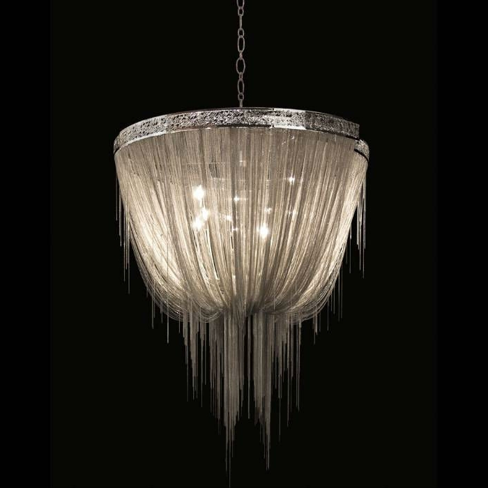 Modern Silver Chain Chandelier For Hotel Project 8518 6 – Buy Silver With Regard To Well Known Modern Silver Chandelier (View 10 of 10)