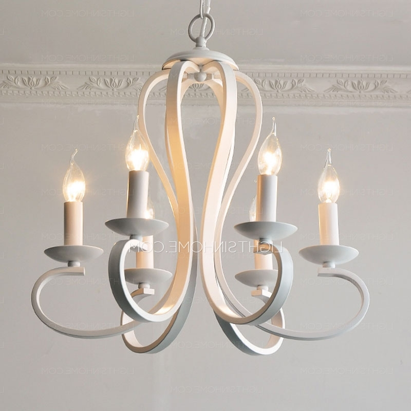 Modern White Chandelier In Most Popular Simple 6 Light Modern Chandeliers Cheap Painting Gray White (View 3 of 10)