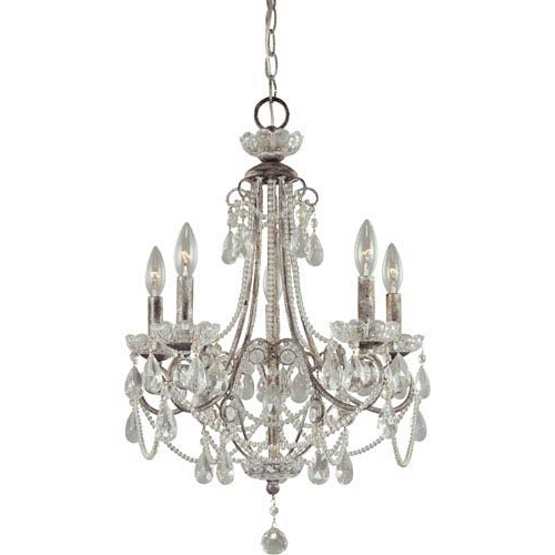 Modern, White, Glass & More From With Popular Mini Crystal Chandeliers (View 7 of 10)