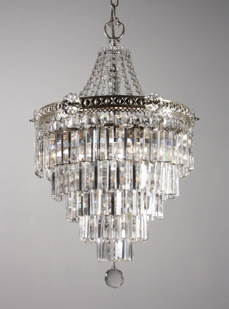 Most Current 3 Tier Crystal Chandelier Pertaining To Stunning Antique Silver Plated Five Tier Chandelier With Crystal (View 9 of 10)