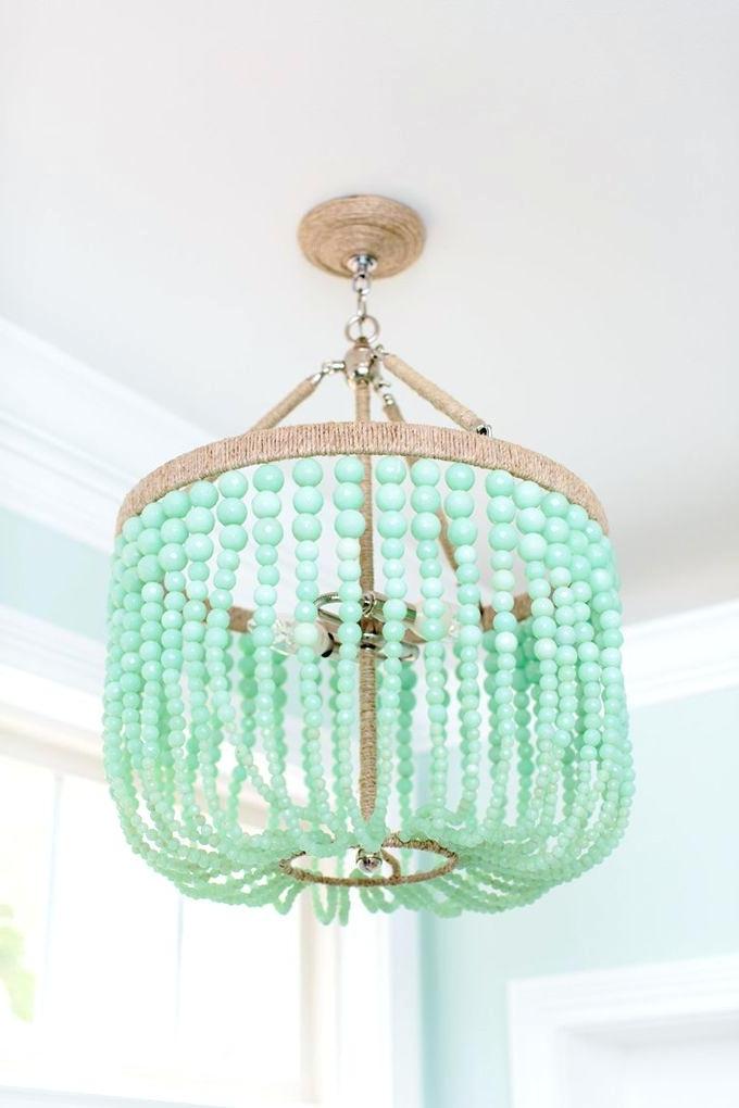 Most Current Beaded Chandelier Mint Zest Lighting Turquoise Beaded Chandelier With Regard To Small Turquoise Beaded Chandeliers (View 5 of 10)